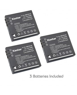 Kastar Battery (3-Pack) for Panasonic Lumix CGA-S008 DMW-BCE10 VW-VBJ10E BP-DC6 & Panasonic Lumix DMC-FX520 SDR-S25 SDR-S26 DMC-FS20 DMC-FX37 DMC-FX55 DMC-FX500 DMC-FS5 DMC-FX30 DMC-FX33 DMC-FX35