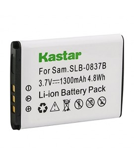 Kastar Battery 1 Pack for Samsung SLB-0837B SLB-0837(B) Samsung Digimax L70 Digimax L83T L85T Samsung Digimax L201 Digimax L301 Digimax NV8 Digimax NV10 Digimax NV15 Digimax NV20 Samsung Digimax SL201