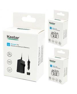 Kastar Battery (X2) & Travel Charger Kit for Samsung SB-LSM320 and SC-D351 VP-D351 VP-D351i VP-D352 VP-D352i VP-D353 VP-D353i VP-D354 VP-D354i VP-D647 VP-D651 VP-D653 VP-DC161 VP-DC161i DC163 DC163i