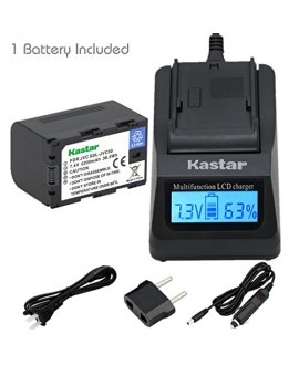 Kastar Ultra Fast Charger(3X faster) Kit and Battery (1-Pack) for JVC SSL-JVC50 and JVC GY-HMQ10, GY-LS300, GY-HM200, GY-HM600, GY-HM600E, GY-HM600EC, GY-HM650 Camcorders