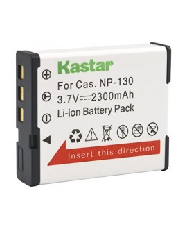 Kastar CNP130 Battery (1-Pack) for Casio NP-130, NP-130A & Exilim EX-10, EX-100, EX-H30, EX-ZR100, EX-ZR200, EX-ZR300, EX-ZR400, EX-ZR500, EX-ZR700, EX-ZR800, EX-ZR850, EX-ZR1000, EX-ZR1200, EX-ZS1500