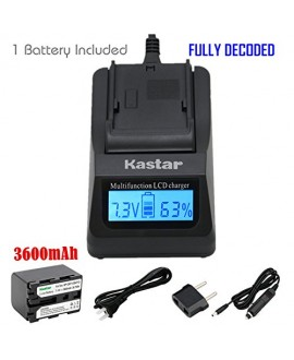 Kastar Ultra Fast Charger Kit and Battery (1-Pack) for Sony NP-QM71D NP-QM91D work with Sony CCD-TR108 TR208 TR408 TR748 TRV106 TRV107 TRV108 TRV116 TRV118 TRV126 TRV128 TRV138 TRV208 TRV218 TRV228 TRV238 TRV308 TRV318 TRV328 TRV338 TRV408 TRV418 TRV428 T