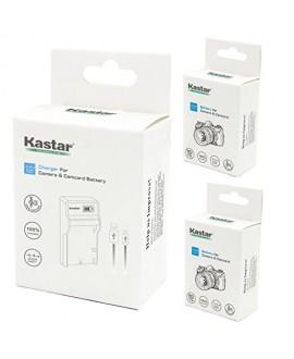 Kastar Battery (X2) & SLIM LCD Charger for Sony NP-FH50 NP-FH40 NP-FH30 NP-FP50 NP-FP51 and Sony A230 A290 A390 DSC-HX1 HX100 HX100V HX200 HX200V HDR-TG1E TG3 TG5 TG7 Camera