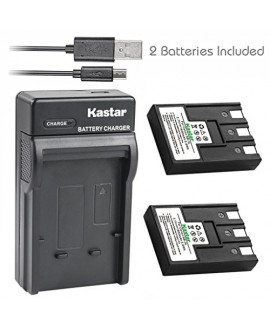 Kastar Battery (X2) + Slim USB Charger for Canon NB-3L & PowerShot SD10, SD100, SD110, SD20, SD500, SD550, Digital IXUS 700, 750, i5, IXY Digital 30, 30a, 600, 700, D30, D30a, D53Z, IXY Digital L, L2