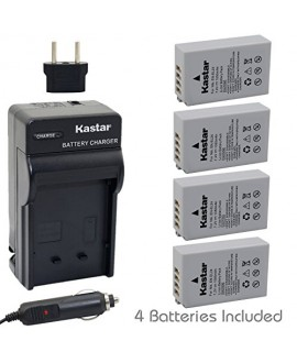 [Fully Decoded] Kastar EN-EL24 Battery (4-Pack) and Charger Kit for Nikon EN-EL24 ENEL24 Rechargeable Li-ion Battery work with Nikon 1 J5 Camera