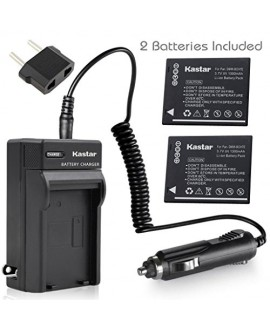 Kastar Battery (X2) & Travel Charger Kit for Panasonic DMW-BCH7, DMW-BCH7PP, DMW-BCH7E, DE-A76 and Panasonic Lumix DMC-FP1, DMC-FP2, DMC-FP3, DMC-FT10, DMC-TS10 Cameras