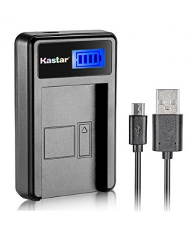 Kastar LCD Slim USB Charger for Fujifilm NP-W126, BC-W126 and FinePix HS30EXR, FinePix HS33EXR, FinePix HS50EXR, FinePix X-A1, FinePix X-E1, X-E2, FinePix X-M1, FinePix X-Pro1, X-Pro2, FinePix X-T1