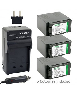 Kastar Battery (3-Pack) and Charger Kit for Panasonic CGR-D54S, CGA-D54, VSK0581 work with Panasonic AG-3DA1, AG-AC90, AG-DVC30, AG-DVC32, AG-DVC33, AG-DVC60, AG-DVC62, AG-DVC63, AG-DVC80, AG-DVC180, AG-DVX100, AG-DVX102, AG-HPX170, AG-HPX250, AG-HPX255,