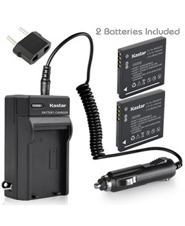 Kastar Battery (X2) & Travel Charger Kit for Panasonic DMW-BCK7, DMW-BCK7E and Lumix DMC-FH25 FH27 DMC-FP5 FP7 DMC-FS16 FS18 FS22 FS35 FS37 DMC-S1 DMC-S2 DMC-S3 DMC-SZ1 DMC-SZ5 DMC-SZ7 DMC-TS20 TS25