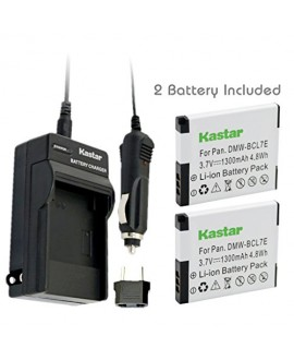 Kastar Battery (2-Pack) and Charger Kit for Panasonic DMW-BCL7E, DMW-BCL7 work with Panasonic Lumix DMC-F5, Panasonic Lumix DMC-FH10, Panasonic Lumix DMC-FS50, Panasonic Lumix DMC-SZ3, Panasonic Lumix DMC-SZ9, Panasonic Lumix DMC-XS1, Panasonic Lumix DMC-