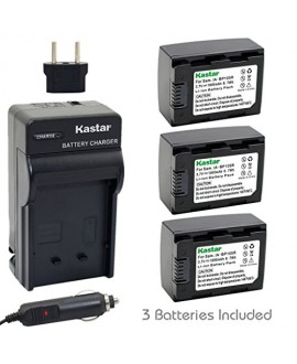 Kastar Battery (3-Pack) and Charger Kit for IA-BP105R and Samsung HMX-F80 HMX-F90 HMX-F800 HMX-F900 SMX-F50 SMX-F53 SMX-F54 SMX-F500 SMX-F501 SMX-F530 SMX-F70 SMX-F700 HMX-H300 H303 H304 H305 HMX-H320