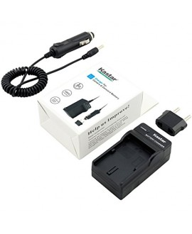 Kastar Travel Charger Kit for JVC SSL-JVC50 and JVC GY-HMQ10, GY-LS300, GY-HM200, GY-HM600, GY-HM600E, GY-HM600EC, GY-HM650 Camcorders