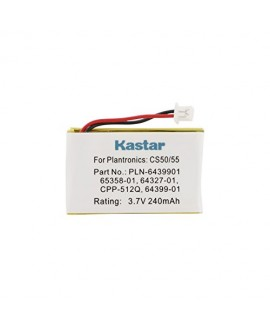 Kastar 3.7V 240mAh Battery (1-Pack) for Plantronics CS-50 CS50-USB CS-55 CS-60 PL-CS-50 PL-CS-50USB PL-CS-55 PL-CS-60 Replaces OEM Avaya AWH-55 Plantronics 64327-01 64399-01 65358-01 PL-64399-01