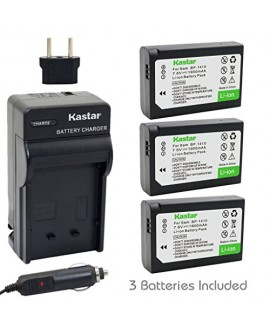 Kastar BP-1410 Battery (3-Pack) and Charger Kit for Samsung BP1410 and NX30 WB2200F Digital Cameras