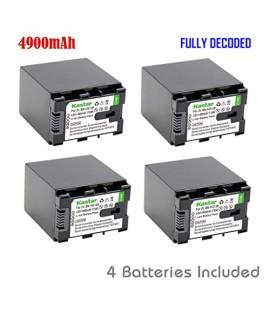 Kastar BN-VG138 Battery (4-Pack) for JVC BN-VG138 BN-VG138U BN-VG138US, BN-VG121 BN-VG121U BN-VG121US, BN-VG114 BN-VG114U BN-VG114US, BN-VG107 BN-VG107U BN-VG107US Battery and JVC Everio Cameras