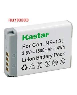 [Fully Decoded] Kastar Battery (1-Pack) for Canon NB-13L work for Canon PowerShot G5 X, Canon PowerShot G7 X, Canon PowerShot G9 X Digital Camera