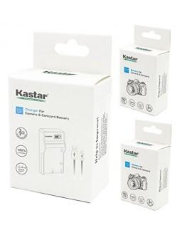 Kastar Battery (X2) & SLIM LCD Charger for Samsung SLB-1137 Fujifilm NP-60 Kodak KLIC-5000 Olympus Li-20B & Samsung U-CA3 U-CA4 U-CA401 U-CA5 U-CA501 U-CA505 V10 V700 V800, Olympus AZ-1, AZ-2 + more