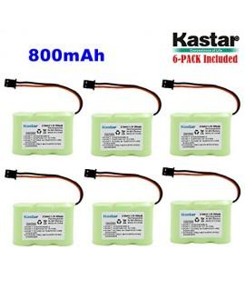 Kastar 6-P 2/3AA 3.6V 800mAh MSM Ni-MH Rechargeable Battery for Panasonic KX-TCM410 KX-A36 P-P301 Sony SPP-72/AQ25/AQ600 1-528-376-31 BP-T16/T185 Toshiba FF-675 FT-6203 TRB-5000 Uniden XC-315/330/600