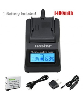 Kastar Ultra Fast Charger(3X faster) Kit and Battery (1-Pack) for GoPro HERO4 and GoPro AHDBT-401, AHBBP-401 Sport Cameras [Over 3x faster than a normal charger with portable USB charge function]