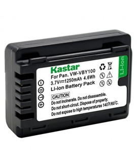 Kastar Battery (1-Pack) for Panasonic VW-VBY100 and Panasonic HC-V110 V110K V110G V201 V201K Cameras