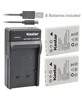 Kastar Battery X2 & Slim USB Charger for Nikon EN-EL8 Coolpix P1 P2 Coolpix S1 S2 S3 S5 S6 Coolpix S7 S7c Coolpix S8 Coolpix S9 Coolpix S50 Coolpix S51 S51c Coolpix S52 S52c Cool-Station MV-11 MV-121