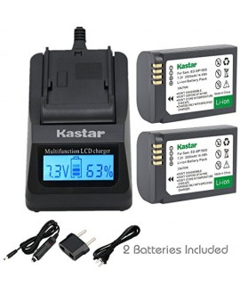 Kastar Ultra Fast Charger(3X faster) Kit and Battery (2-Pack) for Samsung ED-BP1900, BP1900 Battery and Samsung NX1 Smart Wi-Fi 4K Digital Camera