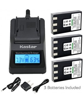 Kastar Ultra Fast Charger(3X faster) Kit and NB-1L Battery (3-Pack) for Canon NB-1L NB-1LH CB-2LSE work with Canon IXY Digital 200 200a 300 300a 320 400 430 450 500 S200 S230 S330 PowerShot S200 S230 S300 S330 S400 S410 S500 Cameras [Over 3x faster than a