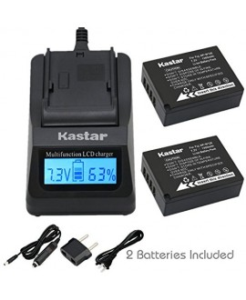Kastar Fast Charge + Battery (2-Pack) for Fujifilm NP-W126 and FinePix HS30EXR, FinePix HS33EXR, FinePix HS50EXR, FinePix X-A1, FinePix X-E1, FinePix X-E2, FinePix X-M1, FinePix X-Pro1, FinePix X-T1