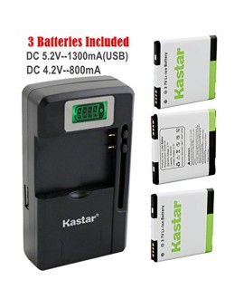 Kastar G14 / BG58100 Battery (3-Pack) and intelligent mini travel Charger ( with high speed portable USB charge function) for HTC G14, HTC BG58100, HTC EVO 3D (Fits BG86100), HTC Sensation, HTC Amaze, HTC MyTouch 4G Slide, HTC Sensation XE, HTC Sensation