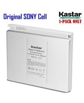 "Kastar Laptop Battery for Apple A1175 A1150 A1211 A1226 A1260 MacBook Pro 15"" (Early 2006 Late 2006 Mid 2007 Late 2007 Early 2008), Aluminum Body 18 Months Warranty [Li-Polymer 6-cell 5600mAh/60Wh]"