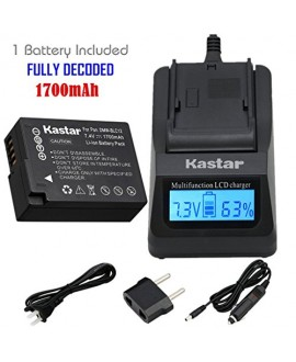 Kastar Ultra Fast Charger and Battery (1-Pack) for Panasonic DMW-BLC12, DMW-BLC12E, DMW-BLC12PP and DE-A79 work with Panasonic Lumix DMC-FZ200, DMC-FZ1000, DMC-G5, DMC-G6, DMC-GH2 Cameras