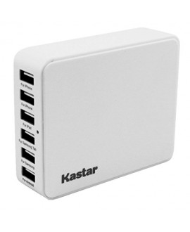 Kastar® 35 Watts 5V 6.5A 6-Port USB Desktop Charger Family-Sized Multi Port USB Wall Charger Portable Travel Charger Battery Charger for iPhones iPads iPods Samsung Smartphone Galaxy Tab2 3 4 Android Phone Google Nexus MP3 MP4 Player Bluetooth Speaker Pow