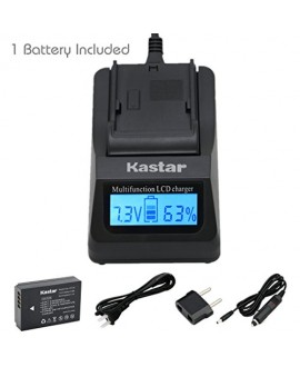 Kastar Ultra Fast Charger Kit and Battery (1-Pack) for Canon LP-E12 work with Canon EOS M, EOS Rebel SL1, EOS 100D Cameras [Over 3x faster than a normal charger with portable USB charge function]