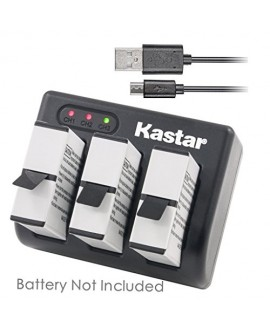 Kastar USB Triple Charger for GoPro HERO5, Hero 5 Black, Gopro5 and GoPro AHDBT-501, AHBBP-501 Sport Camera (Compatible with Firmware v01.57, v01.55 and Future Update)