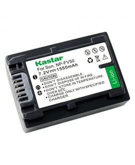 Kastar Battery (1-Pack) for Sony NP-FV30, NP-FV40, NP-FV50 work with Sony DCR-SR88, SX85, FDR-AX100, HDR-CX105, CX110, CX115, CX130, CX150, CX155, CX160, CX190, CX305, CX330, CX350V, CX360V, CX380, CX430V, CX520V, CX550V, CX560V, CX580V, CX700V, CX760V, C