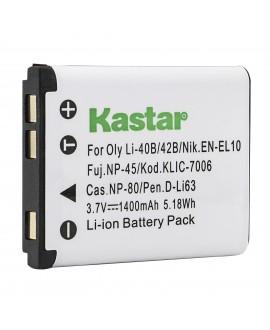 Kastar Camera Replacement Battery LI-42B LI-40B For Olympus FE-230 FE-240 FE-250 FE-280 FE-290 FE-300 TG-310 TG-320 CAMERA