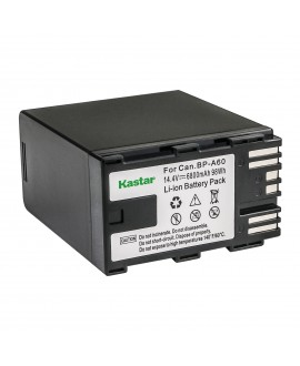 Kastar 2 Fully Decoded Battery + LCD Fast Charger for Canon BP-A30 BP-A60 BP-A90 Battery, CG-A10 CG-A20 Charger, Canon EOS C200, EOS C200B, EOS C220B, XF705 4K UHD, EOS C300 Mark II, EOS C500 Mark II