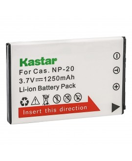 Kastar Battery Replacement for Casio NP-20 CNP20 Exilim EX-M20 EX-S1 EX-S2 EX-S3 EX-S20 EX-S100 EX-S500 EX-S600 EX-S770 EX-S880 EX-Z3 EX-Z4 EX-Z5 EX-Z6 EX-Z7 EX-Z8 EX-Z60 EX-Z65 EX-Z70 EX-Z75 EX-Z77