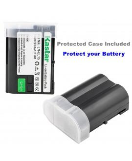 Kastar Battery X2 + Ultra Slim Charger for Nikon EN-EL15 ENEL15 & Nikon 1 V1, D500, D600, D610, D750, D800, D7000, D7100, D800, D800E DSLR Camera, Grip MB-D11, MB-D12, MB-D14, MB-D15, MB-D16