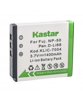 Kastar High Capacity KLIC-7004 Digital Camera Replacement Lithium-Ion Battery Compatible with Kodak KLIC-7004; Fuji NP-50 NP-50A, FinePix F300EXR, FinePix F505EXR; Pentax D-LI68; SiOnyx Aurora SX-50