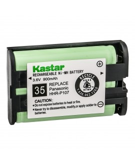Kastar HHR-P107 Battery, Type 35, NI-MH Rechargeable Cordless Telephone Battery 3.6V 900mAh, Replacement for Panasonic HHR-P107, HHR-P107A, HHR-P107A/1B (Detail Models in the Description)