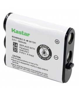 Kastar Cordless Phone Battery Replacement for Panasonic KX-TG2740 KX-TG2750 KX-TG2770 Cordless Phone and Panasonic P-P511 TYPE 24 P-P511A P-P511A/1B HHR-P511, TYPE 30 HHR-P402 -HHR-P402A N4HKGMA00001