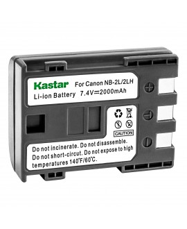Kastar Battery (1-Pack) for Canon NB-2L NB-2LH NB-2L12 NB-2L14 NB-2L24 and PowerShot G7 G9 S30 S40 S45 S50 S60 S70 S80 DC410 DC420 VIXIA HF R10 HF R100 HF R11 EOS 350D 400D Digital Rebel XT Xti