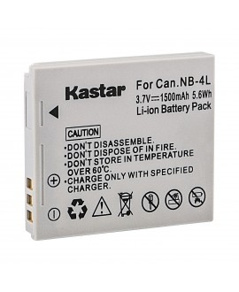 Kastar Battery (X2) & Slim USB Charger for Canon NB-4L, CB-2LV and ELPH 100 HS, 310 HS, 300HS, 330HS, Powershot SD1400 IS, SD750, SD1000, SD600, SD1100 IS, SD630, SD400, SD450, SD780, VIXIA mini