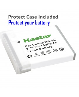 Kastar Battery (X2) & Slim USB Charger for Canon NB-6L and PowerShot SX710 HS SX530 HS SX520 HS SX510 HS SX500 IS SX700SX280 SX260 SX170 SD1300 SD1200 SD980 SD770 SD1300D30 D20 D10 IXUS 85 95 200