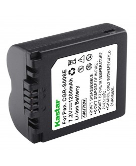 Kastar Camera Battery Replacement for Panasonic Lumix DMC-FZ7 DMC-FZ8 DMC-FZ28 DMC-FZ30 DMC-FZ35 DMC-FZ38 DMC-FZ50 and BP-DC5 J BP-DC5 U CGA-S006 CGA-S006A CGA-S006E CGR-S006 CGR-S006E DMW-BMA7