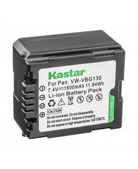 Kastar Battery 1 Pack for Panasonic VW-VBG130 & Panasonic Lumix DMC-L10, HDC-HS250, HDC-HS300, HDC-HS700, HDC-SD10, HDC-SD600, HDC-SD700, HDC-SDT750, HDC-TM10, HDC-TM15, HDC-TM300, HDC-TM700, SDR-H80