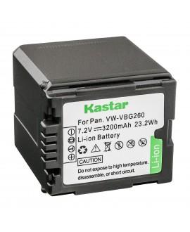 Kastar Battery (1-Pack) for Panasonic VW-VBG260 and AG-AC7, AG-AF100, AG-HMC40, AG-HMC80, AG-HMC150, HDC-HS250, HDC-HS300, HDC-HS700, HDC-SD600, HDC-SD700, HDC-SDT750, HDC-TM300, HDC-TM700, SDR-H80