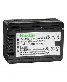 Kastar Battery (1-Pack) for Panasonic VW-VBK180 work with Panasonic HC-V10, HC-V100, HC-V100M, HC-V500, HC-V500M, HC-V700, HC-V700M, HDC-HS60, HDC-HS80, HDC-SD40, HDC-SD60, HDC-SD80, HDC-SD90, HDC-SDX1H, HDC-TM40, HDC-TM41, HDC-TM55, HDC-TM80, HDC-TM90, S