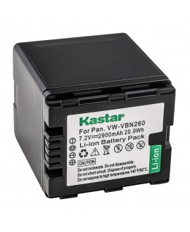 Kastar Battery (1-Pack) for Panasonic VW-VBN260 work with Panasonic HC-X800 HC-X900 HC-X900M HC-X910 HC-X920 HC-X920M HDC-HS900 HDC-SD800 HDC-SD900 HDC-TM900 Cameras